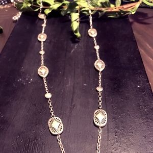 Vintage Brighton Long Sliver Wrapable Necklace